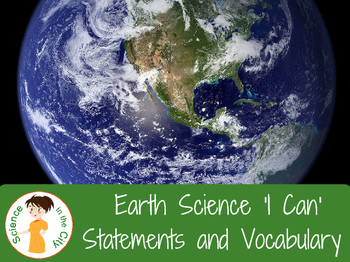 Entire Earth Science Course Student Learning Objectives and Vocabulary