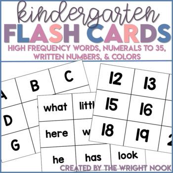 Kindergarten Flash Card Set