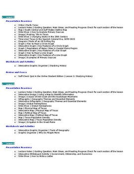 Entire Lesson Plan for Teaching History Geography - Includes GT