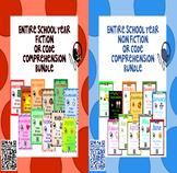 Entire School Year - Fiction & Non Fiction - QR Code Compr