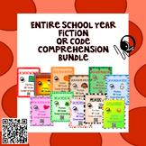 Entire School Year - Fiction - QR Code Comprehension BUNDLE