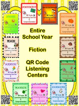 Entire School Year QR Code Listening Center w/ Comprehension BUNDLE