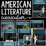 Entire Semester of American Literature Activities & Assess