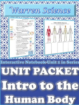 Interactive Notebook Unit Packet: Intro to Human Body-Unit 1 in Series (Fall)