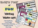 Entire YEAR of FUN Writing Warm-Ups: 20% OFF!!!