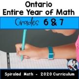 6/7 Comprehensive Math Bundle (New Ontario Math Curriculum 2020)