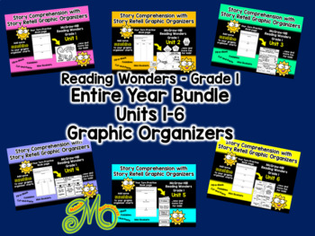 Entire Year Bundle - Gr.1 Reading Wonders - Units 1-6 - Graphic Organizer Bundle