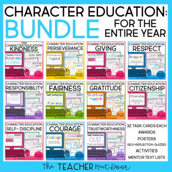 Entire Year: Character Education Bundle   Character Education