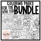 Entire Year Coloring Pages - BUNDLE