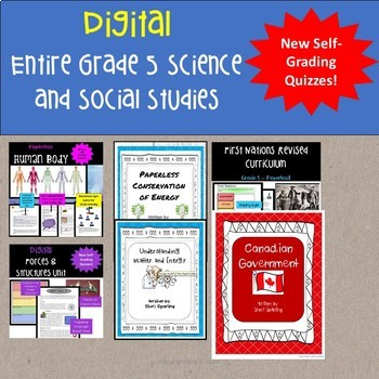 Entire Year Digital Grade 5 Science and Social Studies