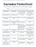 Entire Year Homework Choice Board-Promoting Play and Family Time