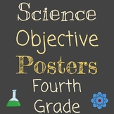 Entire Year | 4th Grade NGSS Objectives | I Can, SWBAT | Posters