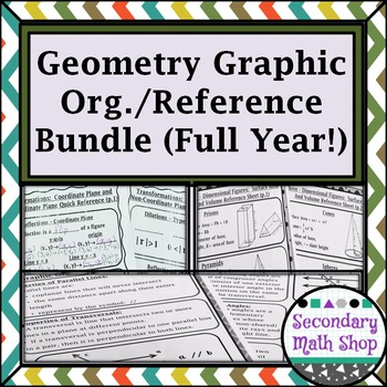 Graphic Organizers / Reference Entire Year  Bundle