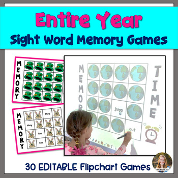 #springbackin Entire Year Sight Word Memory Flipchart Games