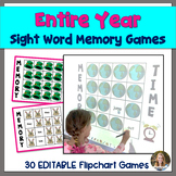 Digital Sight Word Memory Games: President's Day, Dental Health, 100th Day