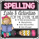 Year Long Spelling Program, Spelling Activities, All Year