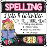 Year Long Spelling Program, Spelling Activities, All Year