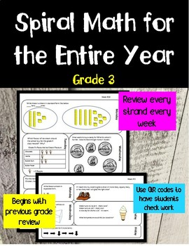 Entire Year of Daily Spiral Math Grade 3