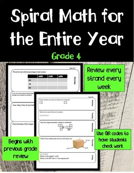 Entire Year of Daily Spiral Math Grade 4