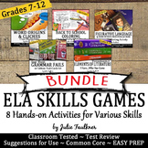 ELA Review Games Activities -Vocabulary, Poetry, Grammar,