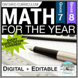 Math Unit BUNDLE: Entire Year of Grades 7 & 8 New Ontario