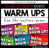 Math TEKS Warm Ups - 4th Grade