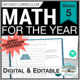 Entire Year of Math - complete grade 5 math program!!  ✳ GROWING BUNDLE ✳