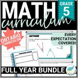 Math Unit Bundle: Entire Year of Grade 5 Math! NEW Ontario