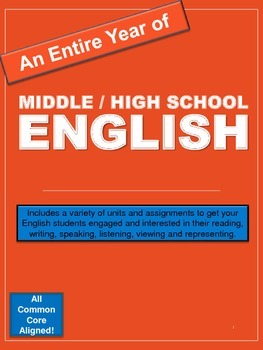 Entire Year of Middle / High School English: Printable Uni