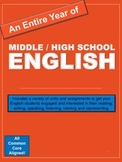 Entire Year of Middle / High School English: Printable Units - Major Bundle!
