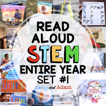 Entire Year of Read Aloud STEM Challenges and STEM Activities Growing Bundle