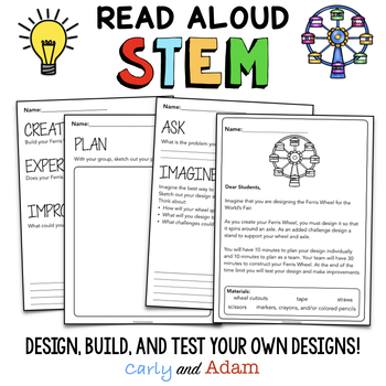 Read Aloud STEM Activities and Challenges BUNDLE with Halloween STEM