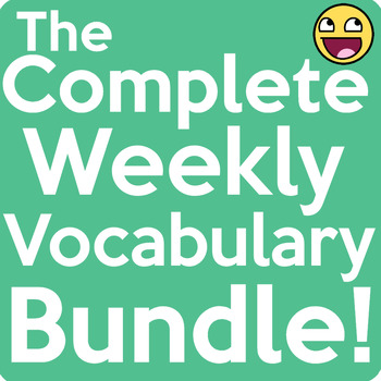 The Complete Weekly Vocabulary Bundle! {Entire Year}
