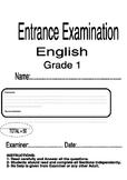 Entrance Exam First Grade