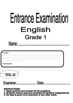 Entrance Exam First Grade