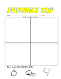 Entrance Exit Slip  Template with Thumb Rating