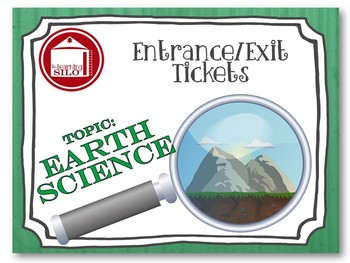 Entrance Tickets - Earth Science