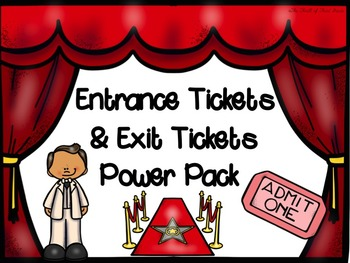 Exit Tickets and Entrance Tickets Pack