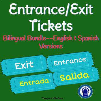 Entrance and Exit Tickets Set for any Subject Area Bilingual Bundle