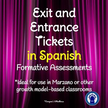 Entrance and Exit Tickets in SPANISH