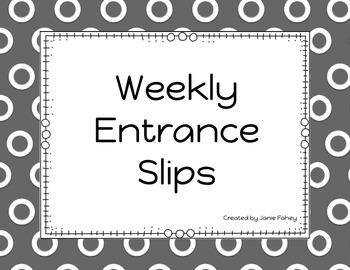 Entrance or Exit Slips