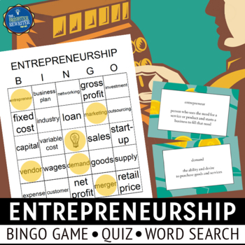 Entrepreneur Vocabulary Bingo