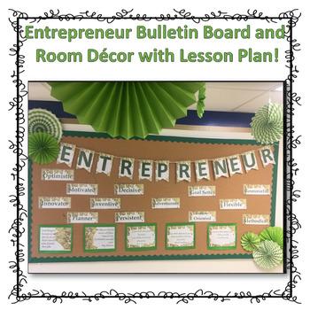 Entrepreneur Bulletin Board Room Decor