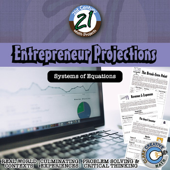 Entrepreneur Projections -- Financial Literacy & Systems of Equations Project