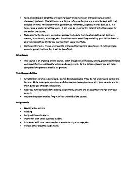 Entrepreneurism Syllabus