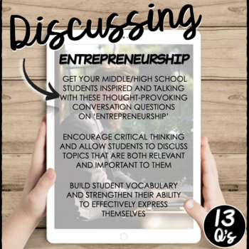 Entrepreneurs and Entrepreneurship- A Conversation Class
