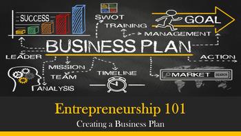 Entrepreneurship 101:  Creating a Business Plan Lesson