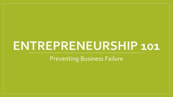 Entrepreneurship 101:  Preventing Your Business From Failing Lesson
