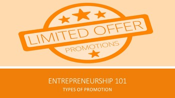 Entrepreneurship 101:  Types of Promotion Lesson