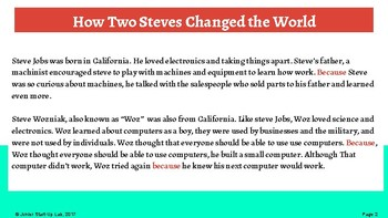 Entrepreneurship: Cause & Effect, How Two Steves Changed the World